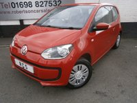 USED 2014 14 VOLKSWAGEN UP 1.0 MOVE UP 3dr SMALL ECONOMICAL HATCH