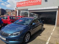 "USED 2016 16 VAUXHALL ASTRA 1.4 SRI S/S 5d AUTO 148 BHP ONLY 7015 MILES FROM NOW! GREAT SPEC SRI MODEL WITH 17"" ALLOY WHEELS ,AIR CONDITIONING, PARKING SENSORS, FULL SERVICE HISTORY WITH 1 PREVIOUS OWNER, MEETS ALL LARGE CITY EMISSION STANDARDS."