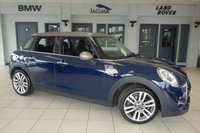 """USED 2017 67 MINI HATCH COOPER 2.0 COOPER S SEVEN 5d AUTO 189 BHP FINISHED IN LIPISLUXURY BLUE WITH PARTIAL BLACK LEATHER SPORT SEATS + FULL MINI SERVICE HISATORY + PRO SATELLITE NAVIGATION + MINI CONNECTED XL + BLUETOOTH + DAB RADIO + MINI SEVEN CHILI PACK + LED HEADLIGHTS + CRUISE CONTROL + ALLOY WHEELS + MINI """"YOURS"""" SPORT STEERING WHEEL + AUTOMATIC AIR CONDITIONING"""