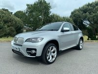 USED 2012 12 BMW X6 3.0 XDRIVE40D 4d AUTO 302 BHP BMW X6 LOCAL CAR IN SILVER WITH FULL BLACK LEATHER