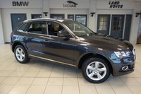 USED 2016 65 AUDI Q5 2.0 TDI QUATTRO SE 5d AUTO 187 BHP FINISHED IN STUNNING DAYTONA GREY WITH FULL BLACK LEATHER SEATS + AUDI SERVICE HISTORY + SATELLITE NAVIGATION + BLUETOOTH + 18 INCH ALLOYS + 1 OWNER + HEATED FRONT SEATS + DAB RADIO + CRUISE CONTROL + AIR CONDITIONING