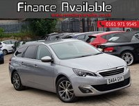 USED 2014 64 PEUGEOT 308 1.6 BLUE HDI SW ALLURE 5d 120 BHP ZERO TAX & GREAT FUEL ECONOMY+FULL PEUGEOT SERVICE HISTORY