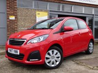 USED 2017 17 PEUGEOT 108 1.0 ACTIVE 5d 68 BHP FREE ROAD TAX AND LOW INSURANCE