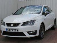 USED 2013 63 SEAT IBIZA 1.2 TSI FR 3d 104 BHP £30 PER YEAR ROAD TAX