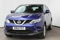 USED 2014 14 NISSAN QASHQAI 1.2 ACENTA DIG-T 5d 113 BHP METALLIC INK BLUE, VERY LOW MILES WITH FSH, BLUETOOTH, ALLOYS, REMOTE LOCKING
