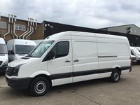 USED 2017 66 VOLKSWAGEN CRAFTER 2.0TDI CR35 LWB TDI LWB H/R BMT 140BHP. EURO6. LOW 70K MILES. PX EURO6. VW WARRANTY. LOW 70K MILES. LOW FINANCE. PX