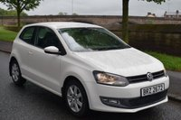 USED 2010 VOLKSWAGEN POLO 1.4 SE 3d 85 BHP SERVICE HISTORY, SPORTS CLOTH SEATS, RADIO CD PLAYER, ELECTRIC WINDOWS AND ALLOYS
