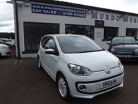 USED 2013 13 VOLKSWAGEN UP 1.0 UP WHITE 3d 74 BHP