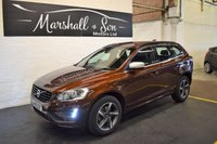USED 2016 16 VOLVO XC60 2.0 D4 R-DESIGN NAV 5d AUTO 188 BHP STUNNING CAR IN RICH JAVA - VOLVO +1 OWNER - FULL VOLVO SERVICE HISTORY - HALF LEATHER - SA NAV - HEATED SEATS - UPGRADED ALLOYS