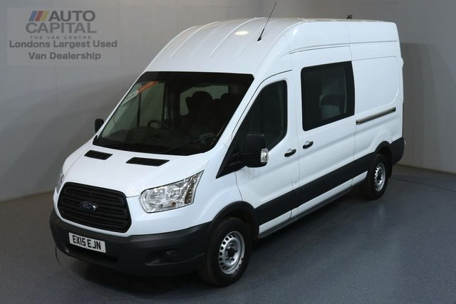 2015 15 FORD TRANSIT 2.2 350 L3 H3 LWB 124 BHP RWD 7 SEATS COMBI CREW MESS REVERSE CAMERA, REAR PARKING SENSORS
