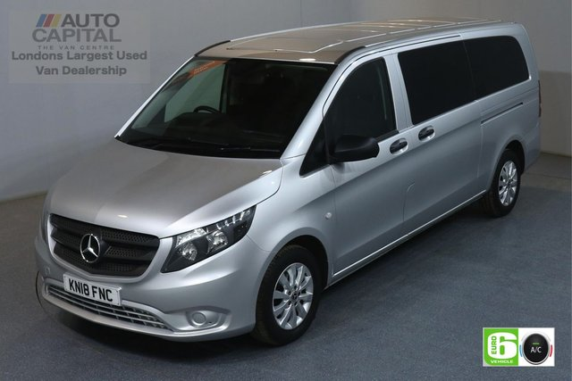 2018 18 MERCEDES-BENZ VITO 2.1 114 BLUETEC TOURER SELECT LWB 136 BHP 9 SEATER MINIBUS AUTO AIR CON EURO 6 £24,490+VAT, MANUFACTURE WARRANTY UNTIL 19/03/2021