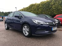 USED 2017 67 VAUXHALL ASTRA 1.6 CDTI TECH LINE NAV 5d  ONE OWNER FROM NEW WITH SERVICE HISTORY  NO DEPOSIT  PCP/HP FINANCE ARRANGED, APPLY HERE NOW