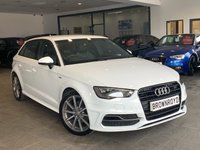 USED 2015 65 AUDI A3 2.0 TDI S LINE 5d 148 BHP 1 OWNER+BLK STYLING PK+FSH