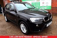 USED 2015 15 BMW X3 2.0 XDRIVE20D SE 5d 188 BHP +ONE OWNER +SAT NAV +LEATHER.