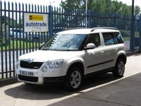 USED 2012 12 SKODA YETI 1.6 ELEGANCE GREENLINE II TDI CR 5d 103 BHP Automatic with Leather,Alloys,Front Fog lights,Cruise Control and service history