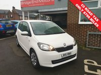 USED 2015 15 SKODA CITIGO 1.0 SE GREENTECH 3d 59 BHP CHEAP TO RUN WITH LOW CO2 EMISSIONS, £0 ROAD TAX, EXCELLENT FUEL ECONOMY AND LOW INSURANCE!  EXCELLENT SPECIFICATION INCLUDING AIR CONDITIONING, AUXILLIARY INPUT, USB CONNECTION AND ONLY 8766 MILES FROM NEW! MEETS LARGE CITY EMISSION STANDARDS!