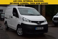 USED 2013 63 NISSAN NV200 1.5 DCI ACENTA 1d 90 BHP A 1 owner December 2013 Nissan NV200 1.5dci Acenta in white with AIR CON, INTERNAL RACKING, REVERSE CAMERA and a comprehensive service history.