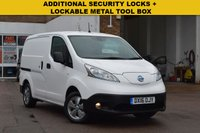 USED 2016 16 NISSAN NV200 0.0 E TEKNA RAPID 1d AUTO 108 BHP Low mileage, NO ULEZ LONDON CHARGE, FULLY ELECTRIC, 1 OWNER, PART GLAZED BULKHEAD, LOCKING TOOL BOX,ADDITIONAL SECURITY LOCKS ON THE REAR AND SIDE SLIDING DOOR, FIRE EXTINGUISHER, TOP SPEC MODEL, 2 KEYS. NISSAN SERVICE AT 5837 MILES.