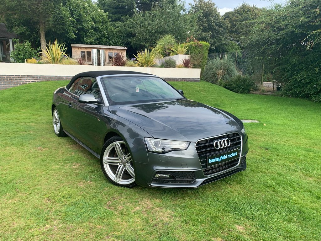 USED 2013 63 AUDI A5 2.0 TDI S LINE CABBRIOLET SPECIAL EDITION 2d AUTO 175 BHP