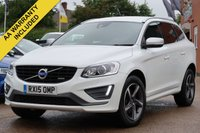 USED 2015 15 VOLVO XC60 2.0 D4 R-DESIGN LUX NAV 5d 178 BHP SATELLITE NAVIGATION + FULL LEATHER INTERIOR