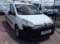 USED 2016 16 CITROEN BERLINGO CREW VAN 1.6 725 X L2 HDI  89 BHP 1 OWNER FSH NEW MOT FREE 6 MONTH AA WARRANTY INCLUDING RECOVERY AND ASSIST NEW MOT EURO 5 SPARE KEY SATELLITE NAVIGATION TWIN SIDE LOADING DOORS ELECTRIC WINDOWS AND MIRRORS RACKING ROOF RACK 5 SEATS