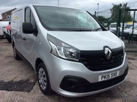 USED 2015 15 RENAULT TRAFIC SWB 1.6 SL27 BUSINESS PLUS ENERGY DCI S/R 120 BHP 1 OWNER FSH NEW MOT AIR CON FREE 6 MONTH AA WARRANTY INCLUDING RECOVERY AND ASSIST NEW MOT EURO 5 AIR CONDITIONING REAR PARKING SENSORS BLUETOOTH ECO MODEL ELECTRIC WINDOWS AND MIRRORS 6 SPEED