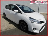 USED 2016 16 TOYOTA VERSO 1.6 D-4D DESIGN 5dr 110 BHP **PANORAMIC GLASS SUNROOF AND SAT NAVIGATION**