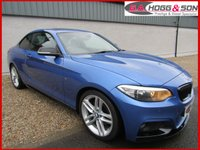 USED 2014 14 BMW 2 SERIES 2.0 220D M SPORT 2dr 181 BHP  *MASSIVE SPECIFICATION* **SUNROOF, BLACK LEATHER HEATED SEATS, SAT NAV, M-PERFORMANCE KITTED**