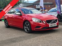 USED 2012 12 VOLVO V60 1.6 DRIVE R-DESIGN S/S 5d 113 BHP FULL YEAR MOT *  HALF LEATHER TRIM *  18 INCH ALLOYS *  CLIMATE CONTROL *  £30 ROAD TAX *