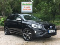 USED 2014 14 VOLVO XC60 2.4 D5 R-DESIGN LUX NAV AWD 5dr AUTO Sat Nav, Leather, FVSH