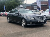 USED 2009 59 MERCEDES-BENZ C CLASS 2.1 C250 CDI BLUEEFFICIENCY SPORT 4d AUTO 204 BHP FRONT AND REAR PARKING AID *  BLUETOOTH *  HEATED SEATS * FULL YEAR MOT *  SERVICE RECORD *