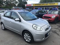2011 NISSAN MICRA 1.2 ACENTA DIG-S 5d AUTO 97 BHP IN METALLIC SILVER WITH 26,000 MILES AND A FULL SERVICE HISTORY! £4999.00