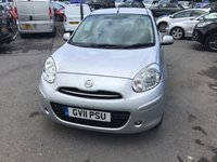 USED 2011 11 NISSAN MICRA 1.2 ACENTA DIG-S 5d AUTO 97 BHP IN METALLIC SILVER WITH 26,000 MILES AND A FULL SERVICE HISTORY! APPROVED CARS AND FINANCE ARE PLEASED TO OFFER THIS NISSAN MICRA 1.2 ACENTA DIG-S 5 DOOR AUTOMATIC 97 BHP IN METALLIC SILVER WITH 26,000 MILES AND A FULL SERVICE HISTORY. THIS VEHICLE HAS GOT A GREAT SPEC SUCH AS ALLOYS, AIR CONDITIONING, BLUETOOTH, MULTI FUNCTIONING STEERING WHEEL,  ELECTRIC MIRRORS AND ELECTRIC WINDOWS.  THIS IS A PERFECT FIRST TIME DRIVER CAR VERY EASY TO DRIVE DUE TO THE FULLY AUTOMATIC GEARBOX, AND VERY CHEAP TO RUN DUE TO THE LOW INSURANCE BAND AND TAX BAND.