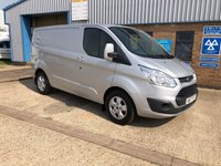 USED 2017 17 FORD TRANSIT CUSTOM 2.0 (EURO 6) 290 LIMITED SWB L1H1 130 BHP 1 OWNER, EURO 6 ULEZ COMPLIANT
