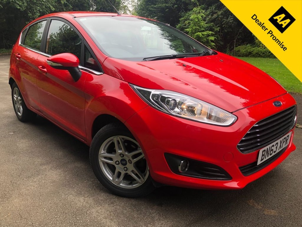 USED 2013 63 FORD FIESTA 1.2 ZETEC 5d 81 BHP 1 PREVIOUS OWNER, BLUETOOTH