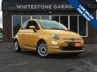 USED 2015 65 FIAT 500 1.2 LOUNGE 3d 69 BHP LOW MILES, FSH,  £20 YEAR TAX, BLUETOOTH, PARKING SENSORS, PANORAMIC GLASS ROOF, A/C