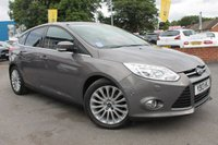 USED 2013 13 FORD FOCUS 1.6 TITANIUM X TDCI 5d 113 BHP JUST ONE OWNER FROM NEW - EXCELLENT SERVICE HISTORY - ALLOY WHEELS - HALF LEATHER - HEATED SCREEN