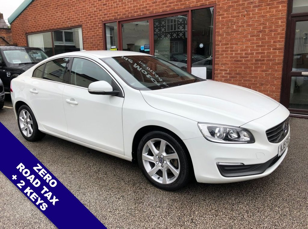 """USED 2015 15 VOLVO S60 2.0 D4 SE NAV 4DOOR 178 BHP DAB   :   Sat Nav   :   USB & AUX   :   Car WiFi   :   Cruise Control / Speed Limiter       Bluetooth     :     Climate Control / Air Conditioning     :     Contrasting Leather Upholstery      Rear Parking Sensors   :   17"""" Alloy Wheels   :   2 Keys   :   Full Service History"""