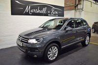 USED 2014 64 VOLKSWAGEN TOUAREG 3.0 V6 SE TDI BLUEMOTION TECHNOLOGY 5d AUTO 242 BHP STUNNING CONDITION THROUGHOUT - ONE OWNER - FULL VW SERVICE HISTORY - NAV - LEATHER - DYNAUDIO SPEAKERS - H/SEATS