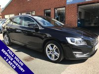 """USED 2015 15 VOLVO V60 2.4 D6 TWIN ENGINE SE LUX NAV 5DOOR AUTO 295 BHP DAB     :     Sat Nav     :     USB & AUX     :     Auto Headlights     :     Car Hotspot / WiFi      Cruise Control / Speed Limiter   :   Bluetooth   :   Climate Control / Air Conditioning              Heated Front Seats     :     Electric Driver Seat     :     Rear Parking Sensors     :     17"""" Alloys     2 Keys   :   Full Volvo Service History"""