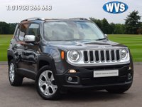 USED 2016 16 JEEP RENEGADE 2.0 M-JET LIMITED 5d AUTO 138 BHP We are delighted to offer for sale this stunning 2016 Jeep Renegade 2.0 Multijet Limited 4x4 AUTOMATIC in grey metallic with a black leather interior.