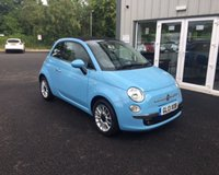 USED 2013 13 FIAT 500 1.2 LOUNGE CONVERTIBLE THIS VEHICLE IS AT SITE 1 - TO VIEW CALL US ON 01903 892224
