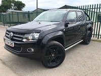 2015 VOLKSWAGEN AMAROK 2.0 DC TDI HIGHLINE 4MOTION 1d AUTO 180 BHP ALLOYS SATNAV LEATHER CRUISE SIDEBARS FSH A/C MOT 06/20 £15900.00