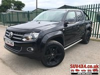 USED 2015 64 VOLKSWAGEN AMAROK 2.0 DC TDI HIGHLINE 4MOTION 1d AUTO 180 BHP ALLOYS SATNAV LEATHER CRUISE SIDEBARS FSH A/C MOT 06/20 (£15,900+£3,180VAT) 4WD. SATELLITE NAVIGATION. REAR CHROME BARS. STUNNING BLACK MET WITH FULL BLACK LEATHER TRIM. HEATED SEATS. CRUISE CONTROL. SIDE BARS. 20 INCH UPGRADED BLACK ALLOYS. COLOUR CODED TRIMS. PRIVACY GLASS. BLUETOOTH PREP. CLIMATE CONTROL WITH AIR CON. TRIP COMPUTER. R/CD PLAYER. MFSW. TOW BAR. MOT 06/20. FULL SERVICE HISTORY. PRESTIGE SUV&4X4 CANTRE -LS24 8EJ. TEL 01937 849492. OPTION 1