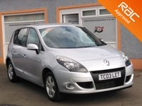 "USED 2011 61 RENAULT SCENIC 1.5 DYNAMIQUE TOMTOM DCI 5d 110 BHP Metallic paint, 16"" alloys, Cruise Control, Tom Tom Sat Nav"