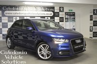 USED 2013 63 AUDI A1 2.0 SPORTBACK TDI S LINE 5d 141 BHP ONE FORMER KEEPER with 12 MONTHS MOT & SERVICE HISTORY, £20 PER YEAR ROAD TAX, OVER 70 MPG, AND 140 BHP THIS LITTLE CAR CAN SHIFT