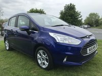 USED 2016 16 FORD B-MAX 1.4 ZETEC MPV 5 DOOR 1 OWNER FSH DEEP IMPACT BLUE