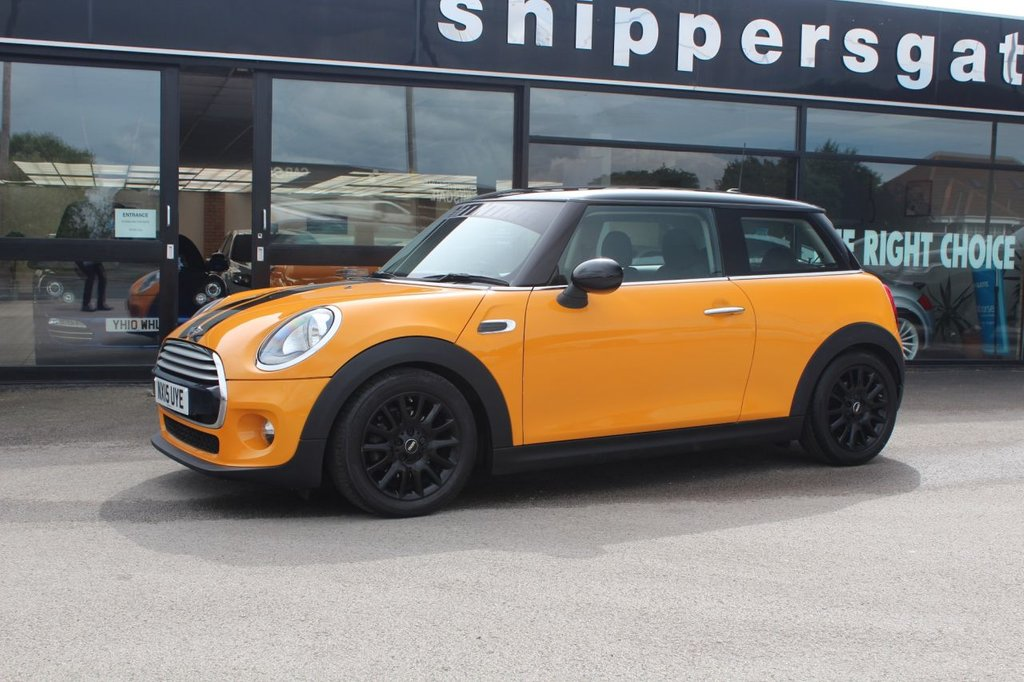 USED 2015 15 MINI HATCH COOPER 1.5 COOPER 3d 134 BHP 1 Previous Owner Mini Cooper In Volcano Orange, Full Service History, DAB Tuner, Sports Seats, Sports, H&R Springs Original Springs Supplied With Car, Keyless Start, HID Headlight Upgrade, Airtec Motorsport Induction Kit - Original air box with car, Black Roof And Mirror Caps, On Board Computer, Rain Sensor, Cruise Controls With Brake Function, Mini Excitement Package, Mini Driving Modes, Tyre Pressure Monitor