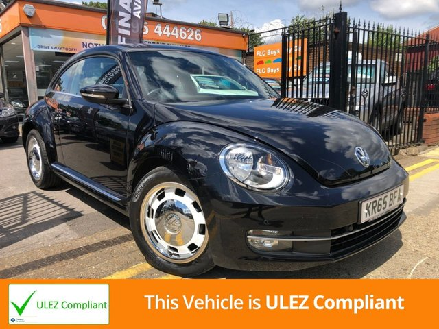 USED 2015 65 VOLKSWAGEN BEETLE 2.0 DESIGN TDI BLUEMOTION TECHNOLOGY DSG 3d AUTO 148 BHP/ULEZ FREE CHARGE IN LONDON.