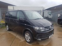 2018 VOLKSWAGEN TRANSPORTER 2.0 T32 TDI KOMBI  4MOTION BLUEMOTION  150 BHP WITH Split rear seats, Cab carpet, Comfort dash with central bottle holder, Discover media navigation system, Electrically adjustable heated and folding door mirrors, Heated drivers and front passenger seats, Pearl black paint, Reversing camera with front and rear parking sensors, Sliding side door driver side, 80 liter fuel tank, Central bulkhead, Grey board load lining and much more   £26995.00